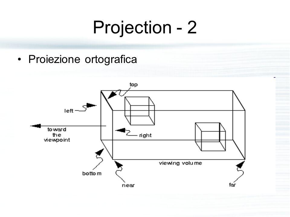 Projection - 2 Proiezione ortografica