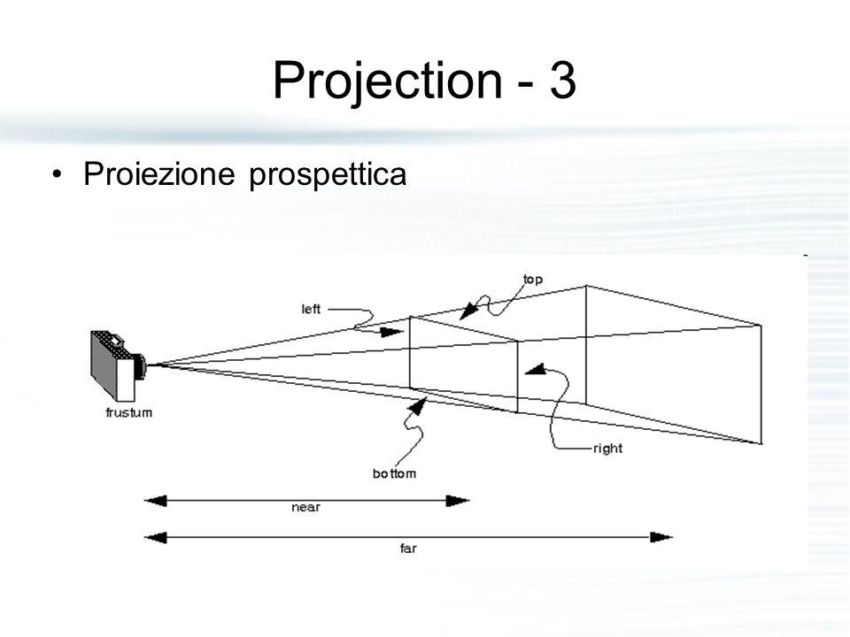 Projection - 3 Proiezione prospettica