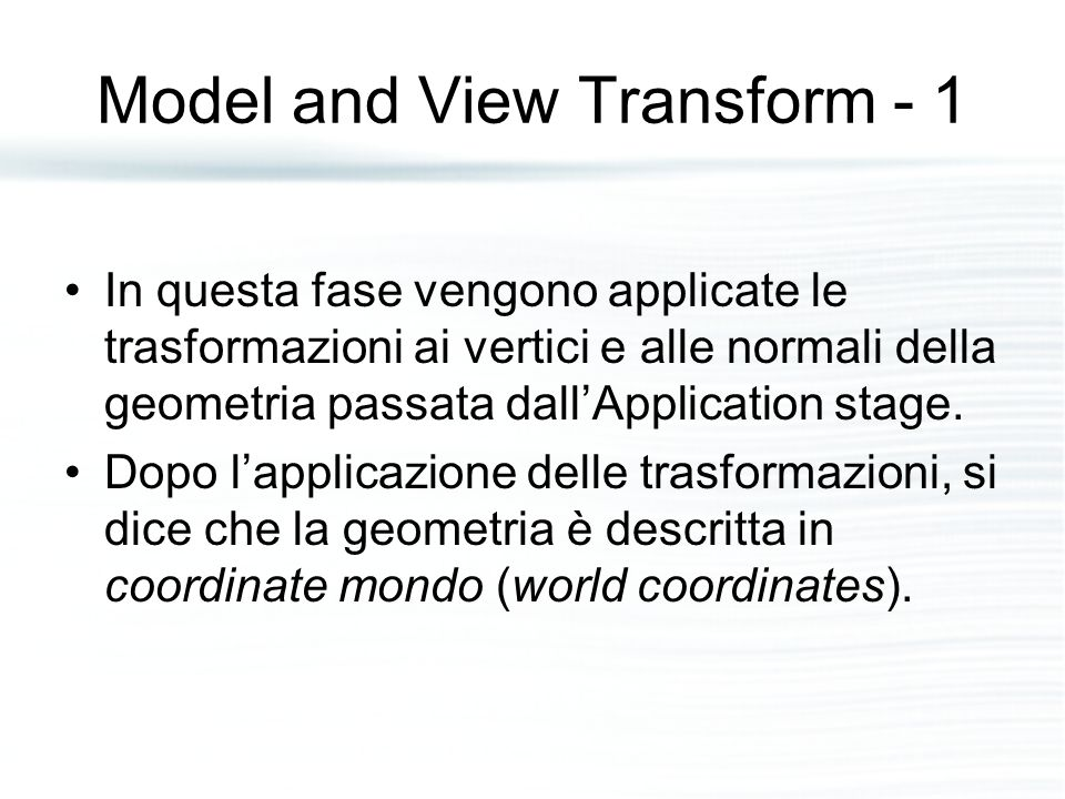 Model and View Transform - 1
