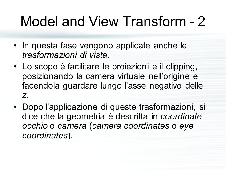 Model and View Transform - 2