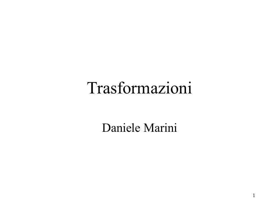 Trasformazioni Daniele Marini