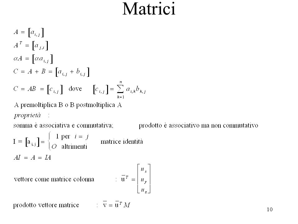 Matrici