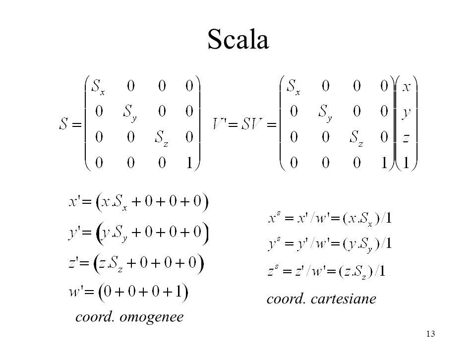 Scala coord. cartesiane coord. omogenee