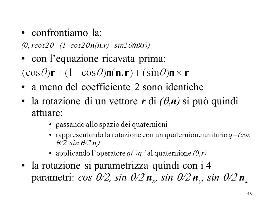 con l'equazione ricavata prima: