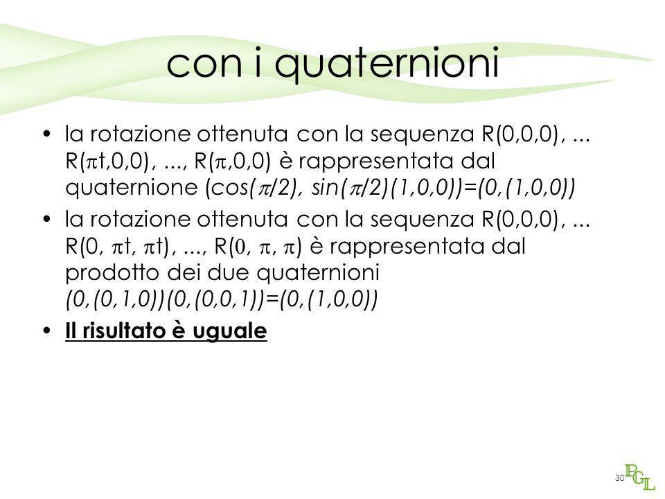 con i quaternioni