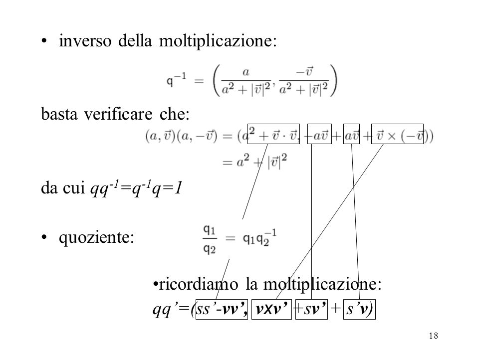 inverso della moltiplicazione: