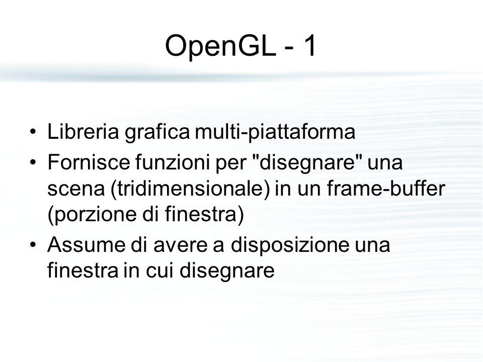 OpenGL - 1 Libreria grafica multi-piattaforma