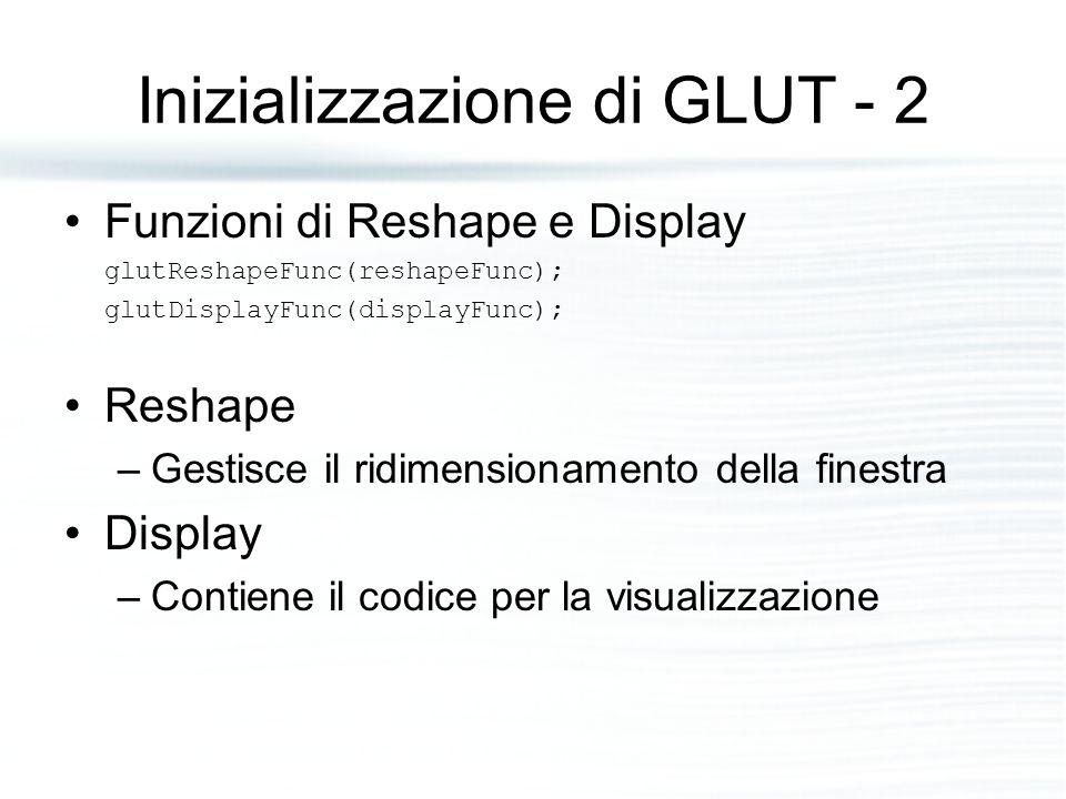 Inizializzazione di GLUT - 2