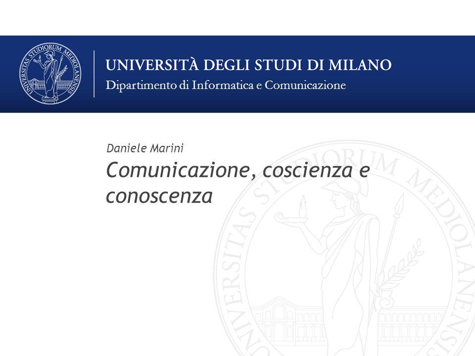 Comunicazione, coscienza e conoscenza