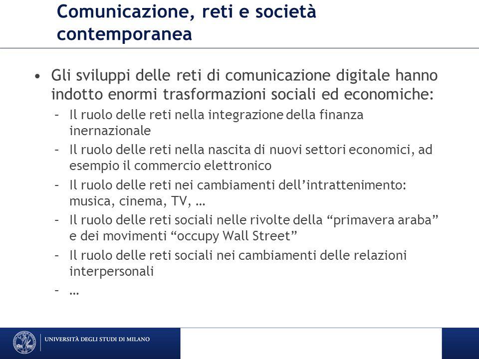 Comunicazione, reti e società contemporanea