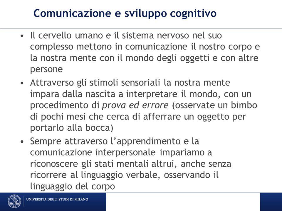Comunicazione e sviluppo cognitivo