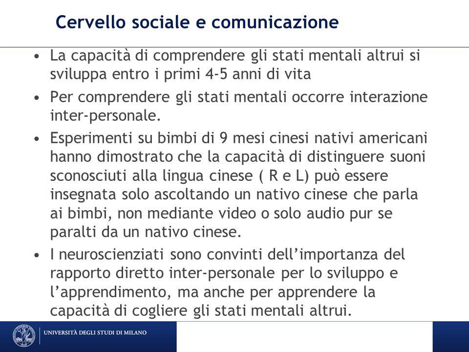 Cervello sociale e comunicazione