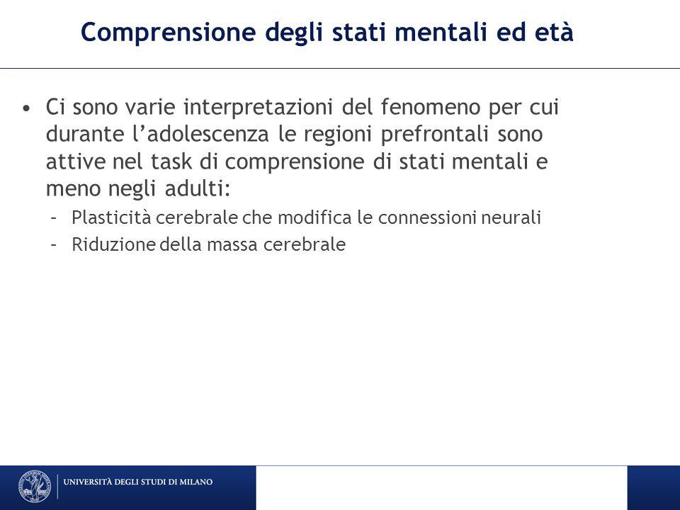 Comprensione degli stati mentali ed età