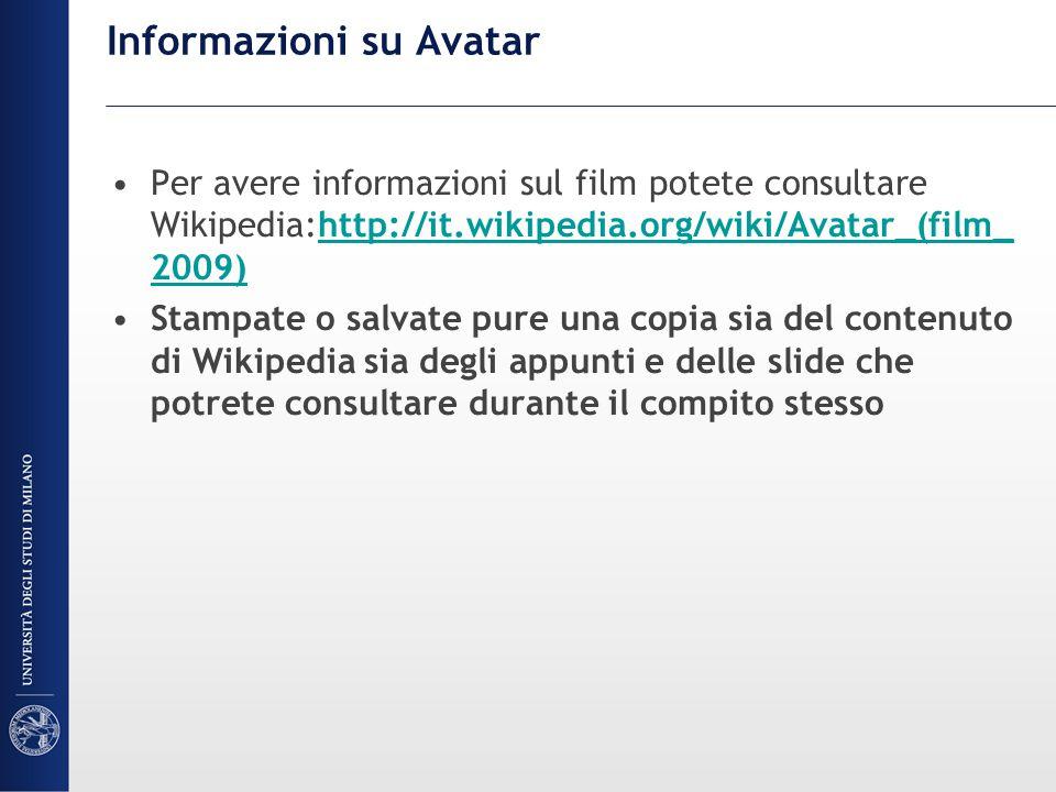 Informazioni su Avatar