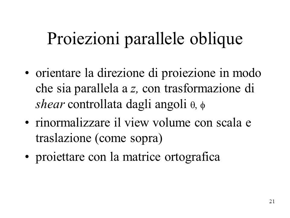 Proiezioni parallele oblique