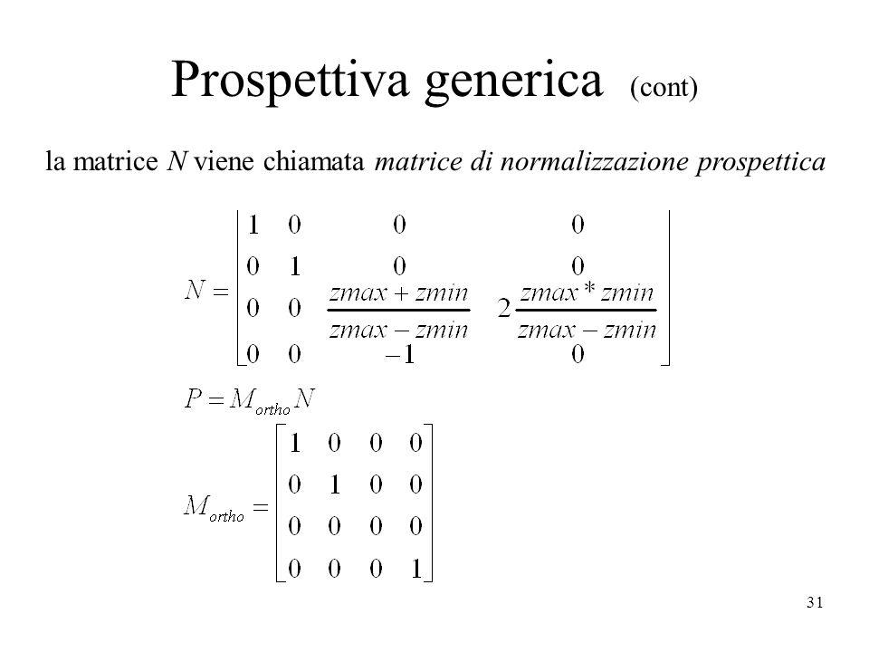 Prospettiva generica (cont)