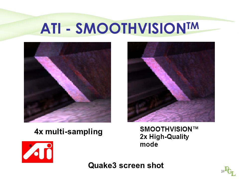 ATI - SMOOTHVISIONTM 4x multi-sampling Quake3 screen shot