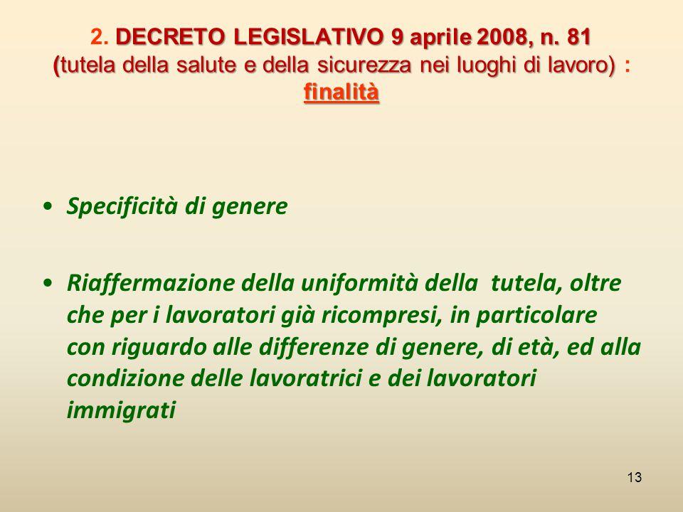 2. DECRETO LEGISLATIVO 9 aprile 2008, n