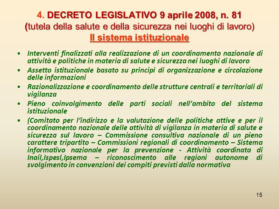4. DECRETO LEGISLATIVO 9 aprile 2008, n