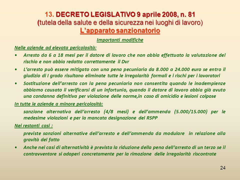 13. DECRETO LEGISLATIVO 9 aprile 2008, n