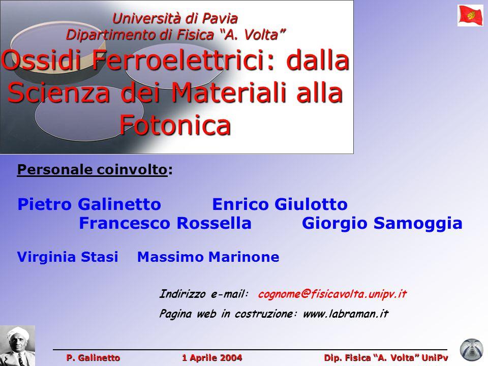 Pietro Galinetto Enrico Giulotto Francesco Rossella Giorgio Samoggia