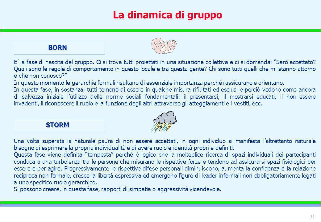La dinamica di gruppo BORN STORM