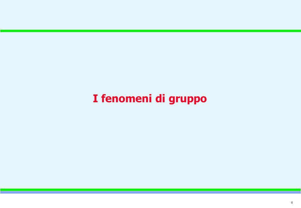 I fenomeni di gruppo