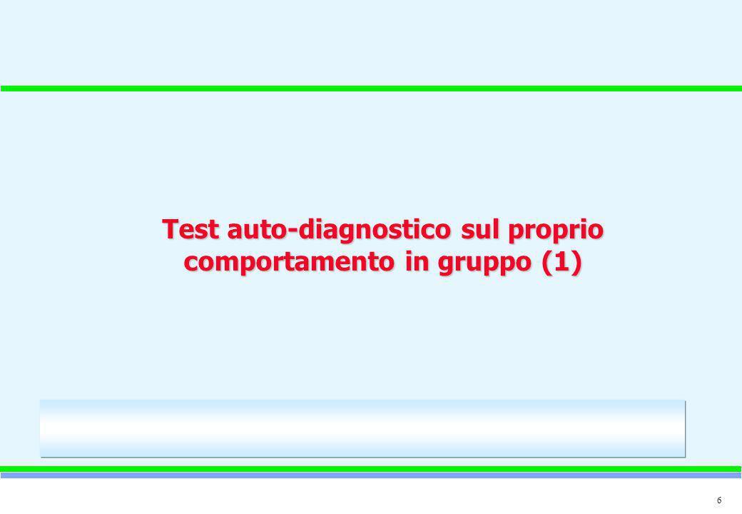 Test auto-diagnostico sul proprio comportamento in gruppo (1)