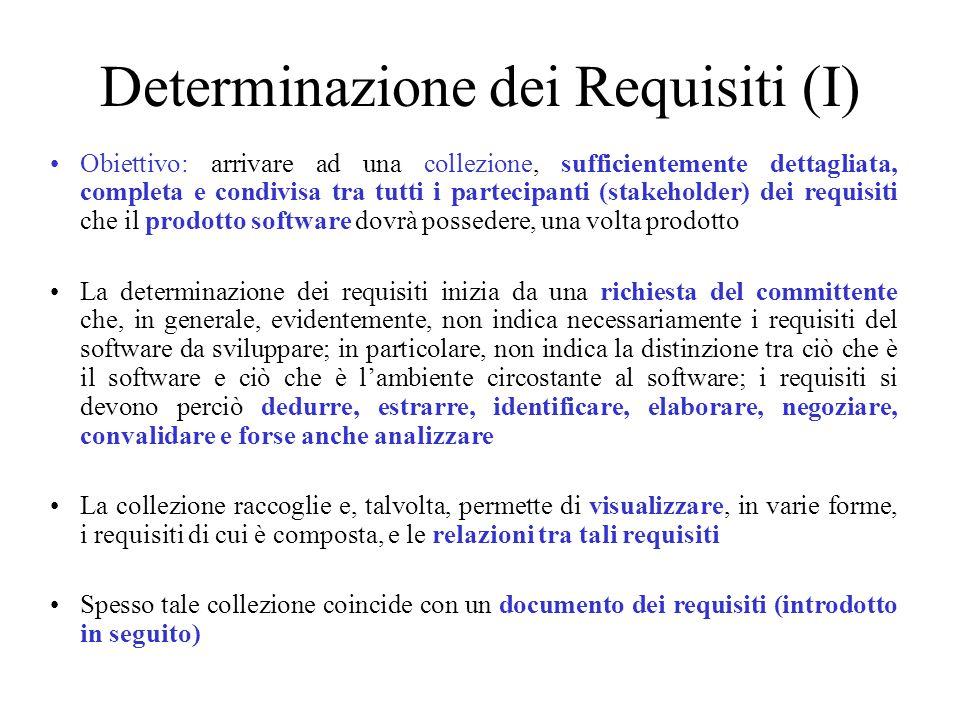 Determinazione dei Requisiti (I)