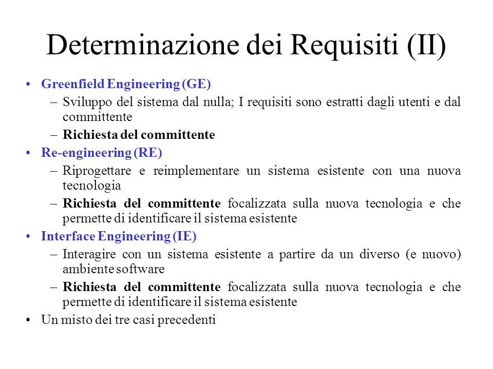 Determinazione dei Requisiti (II)