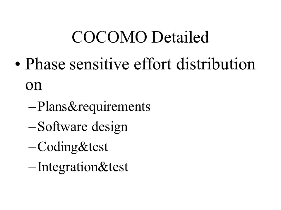 Phase sensitive effort distribution on