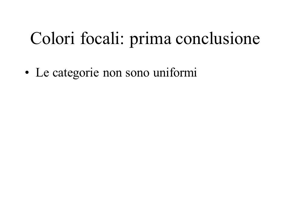 Colori focali: prima conclusione