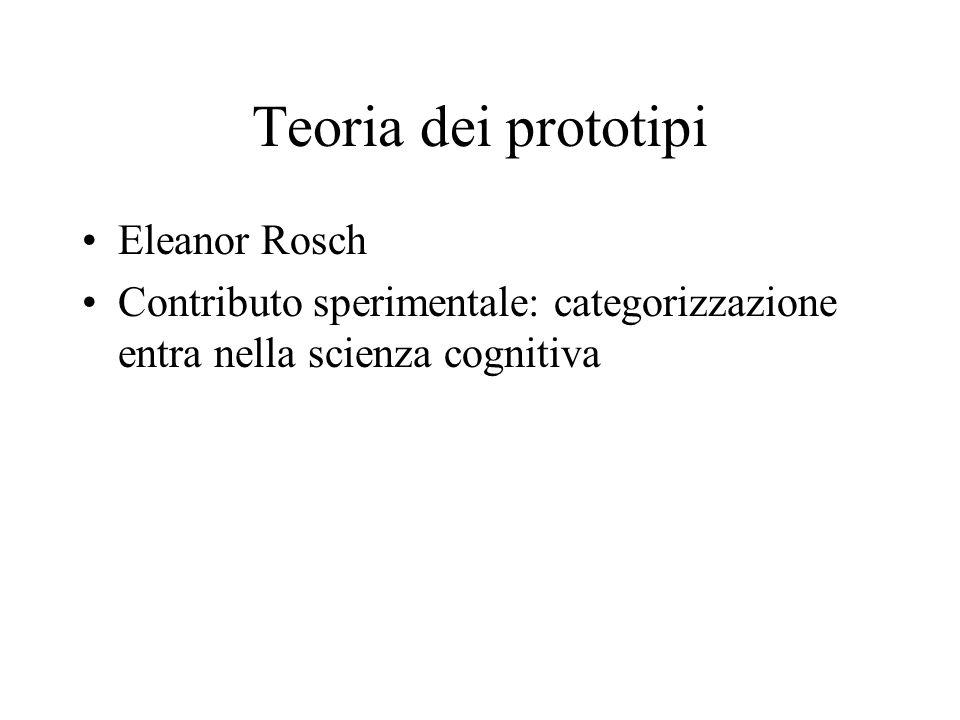 Teoria dei prototipi Eleanor Rosch