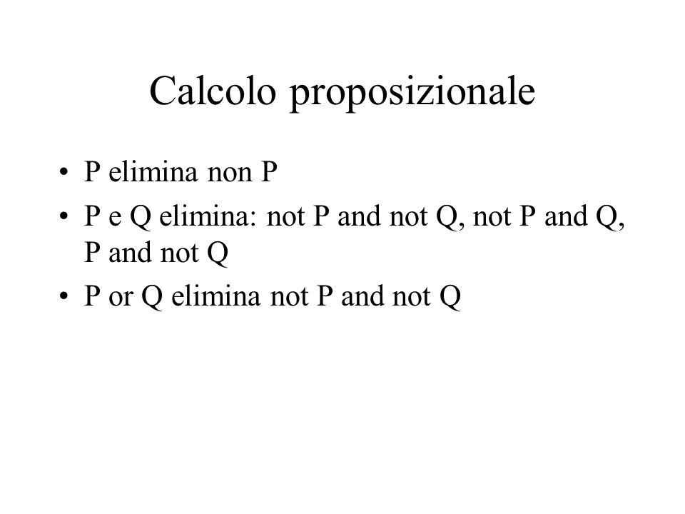 Calcolo proposizionale