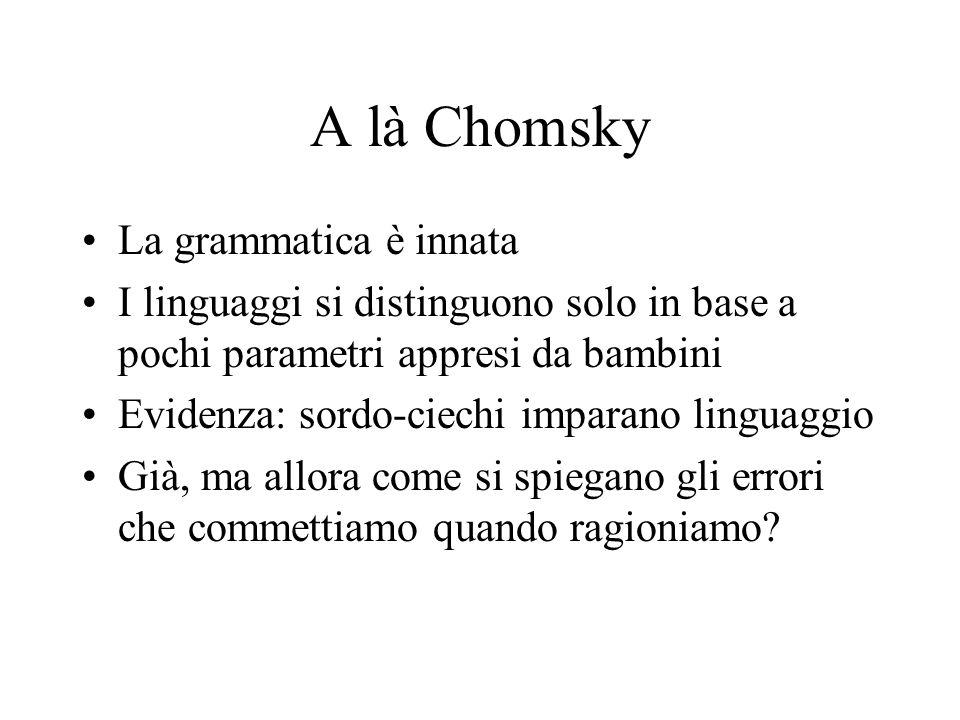 A là Chomsky La grammatica è innata