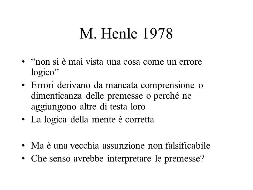 M. Henle 1978 non si è mai vista una cosa come un errore logico