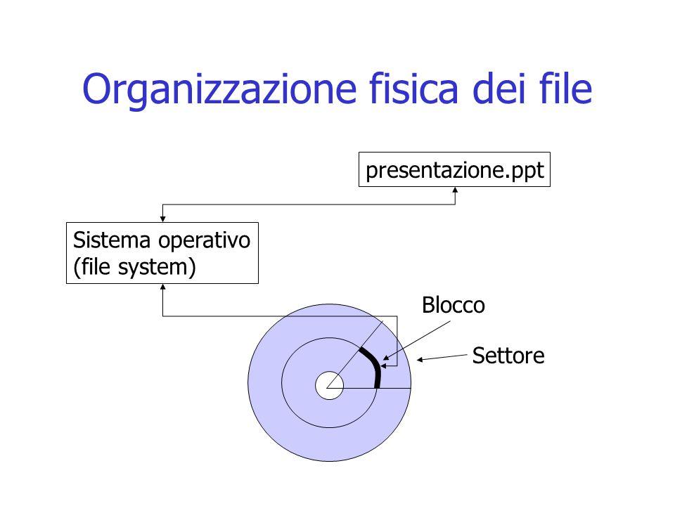 Organizzazione fisica dei file