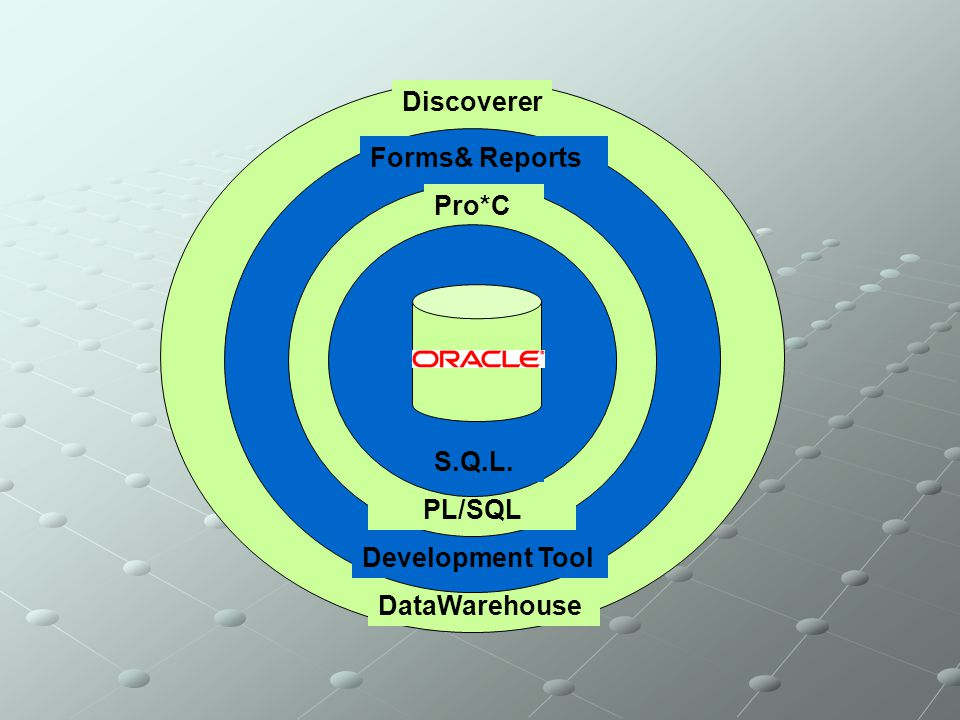 DataWarehouse Discoverer Development Tool Forms& Reports PL/SQL Pro*C S.Q.L.