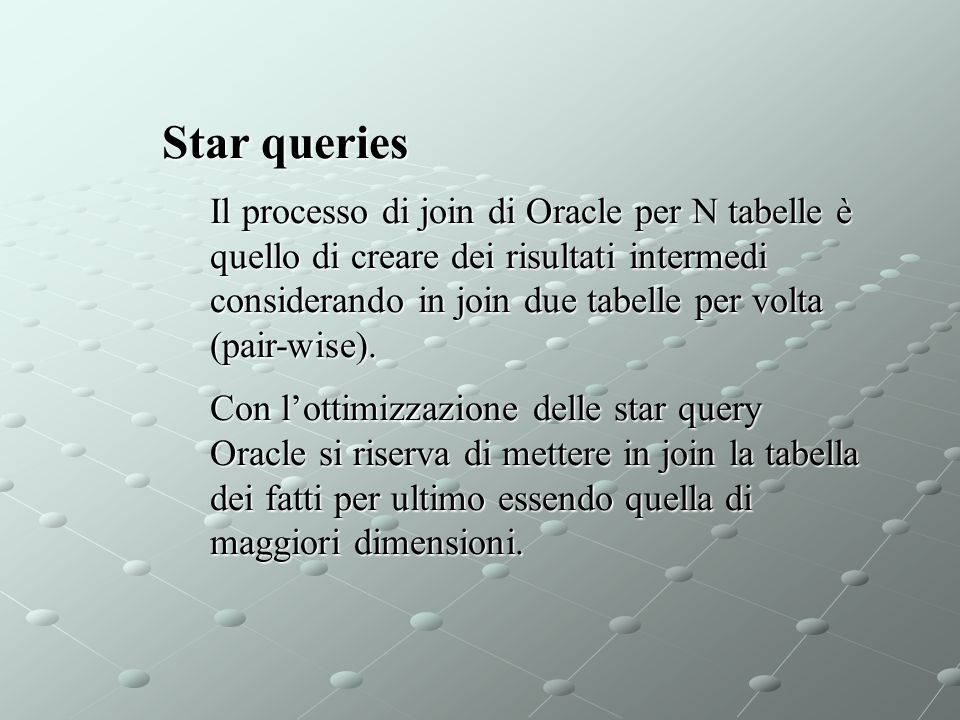 Star queries