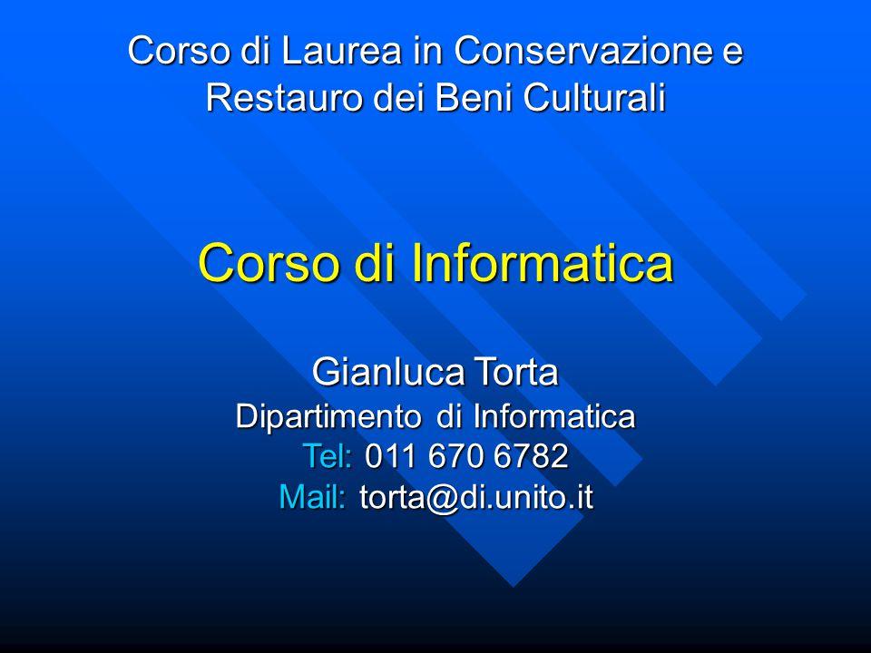 Corso di Laurea in Conservazione e Restauro dei Beni Culturali