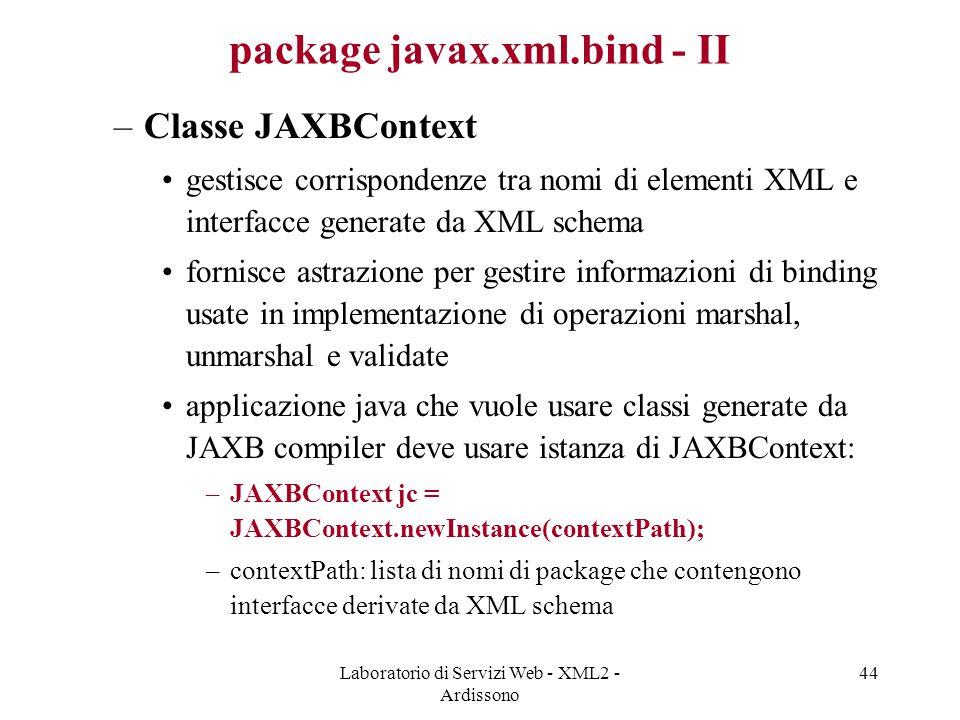 package javax.xml.bind - II