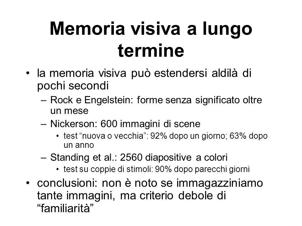 Memoria visiva a lungo termine