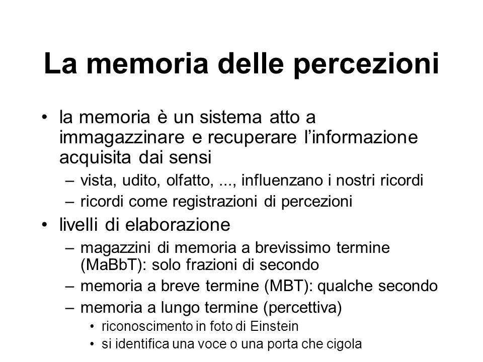 La memoria delle percezioni