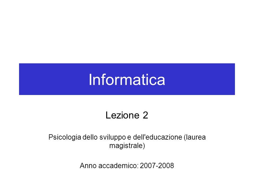 Psicologia dello sviluppo e dell educazione (laurea magistrale)