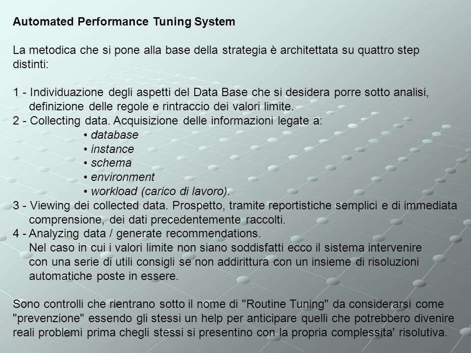 Automated Performance Tuning System