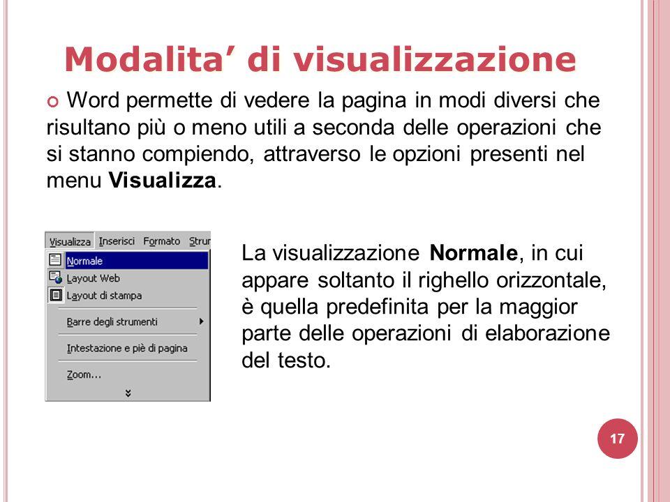 Modalita' di visualizzazione