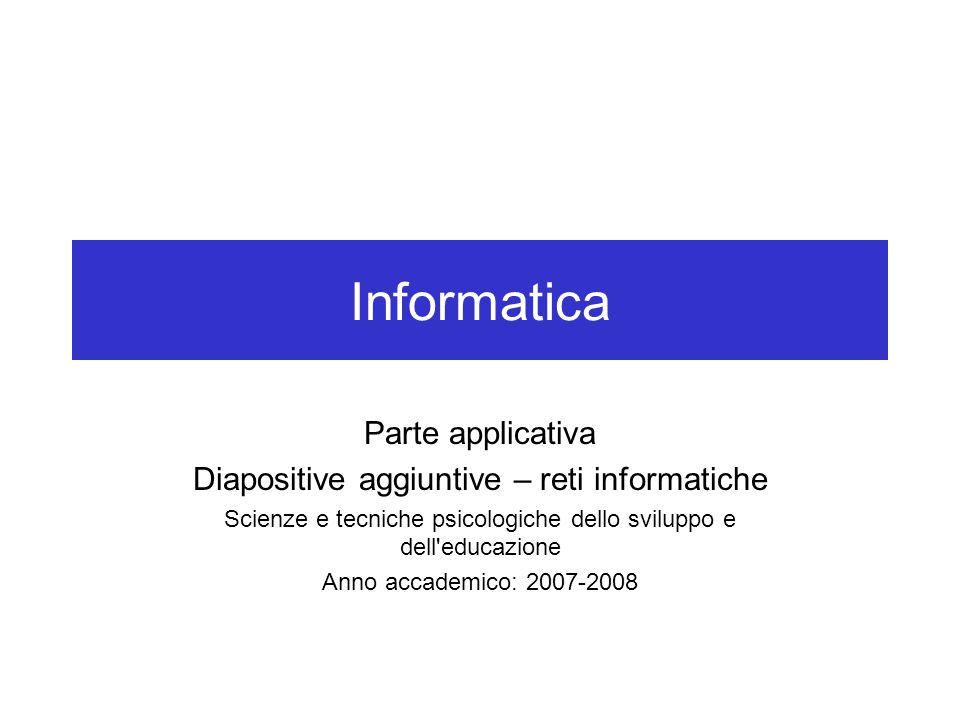 Informatica Parte applicativa