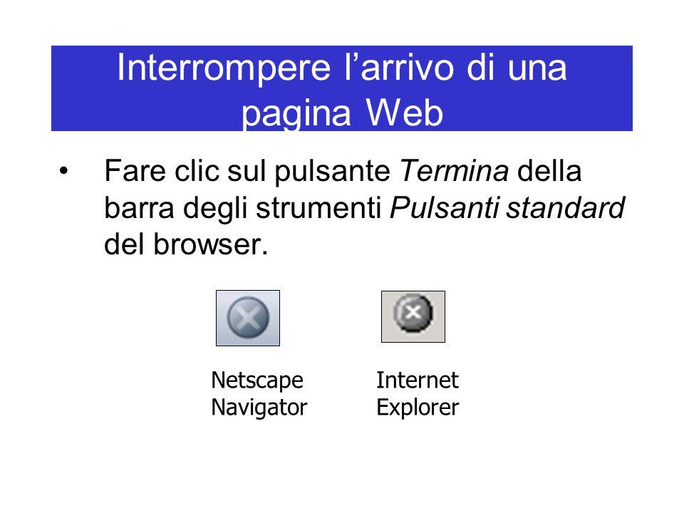 Interrompere l'arrivo di una pagina Web