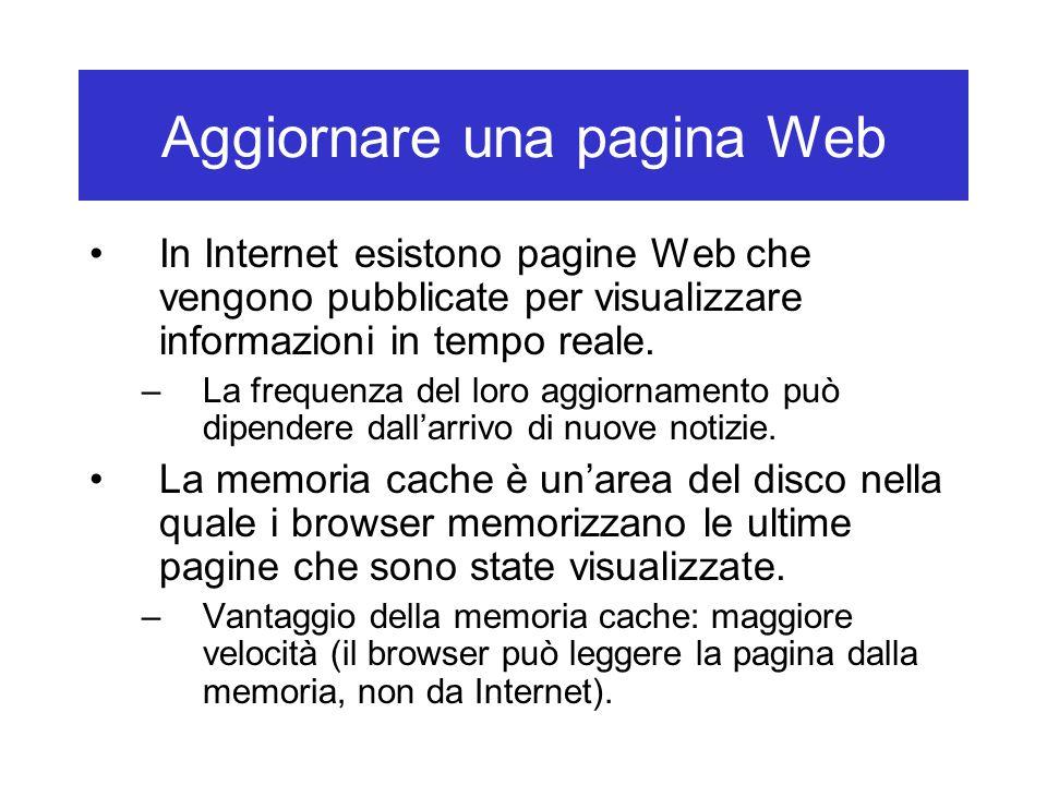 Aggiornare una pagina Web
