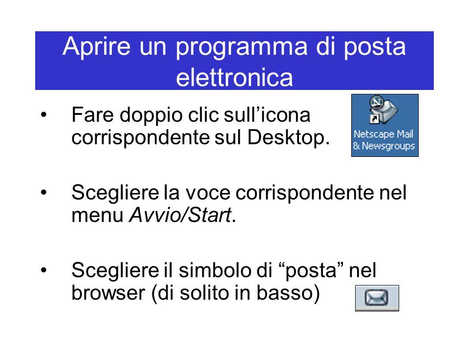 Aprire un programma di posta elettronica